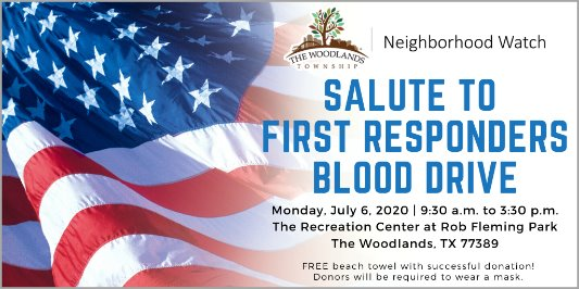 Salute to First Responders Blood Drive