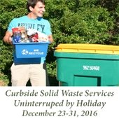 Curbside Solid Waste Services Uninterrupted by Holidays