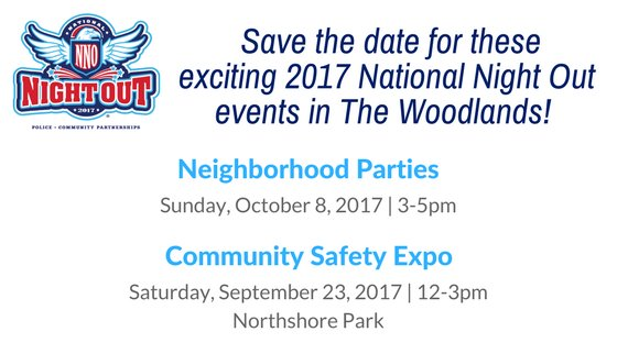 National Night Out Save the Dates