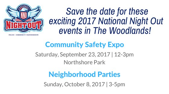 Save the date for National Night Out events