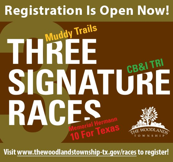 Register Now for Three Signature Races in The Woodlands!