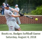 Boots vs. Badges Softball Game