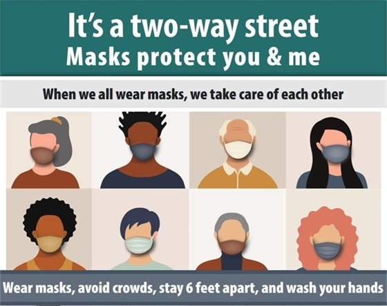 When we all wear masks, we take care of each other.