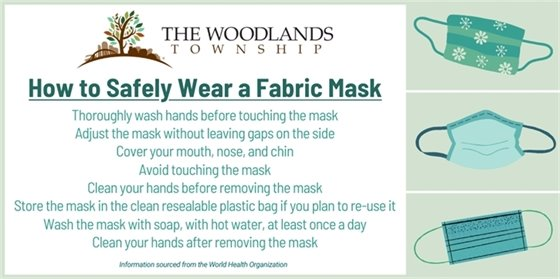 How to Safely Wear a Fabric Mask