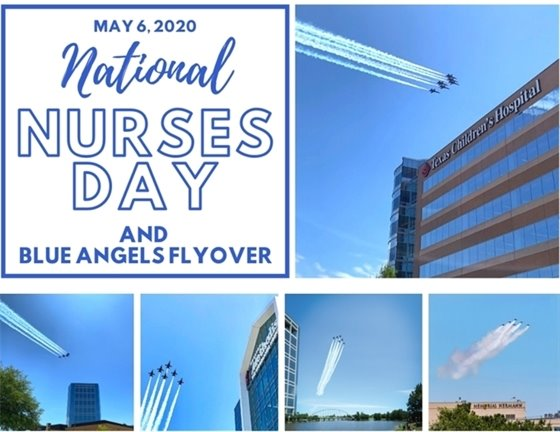 Blue Angels Flyover and National Nurses Day