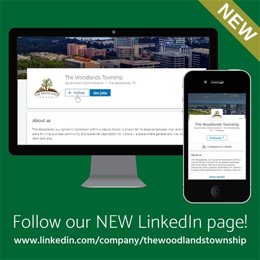 Follow The Woodlands Township on LinkedIn!