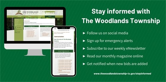 Stay Informed with The Woodlands Township