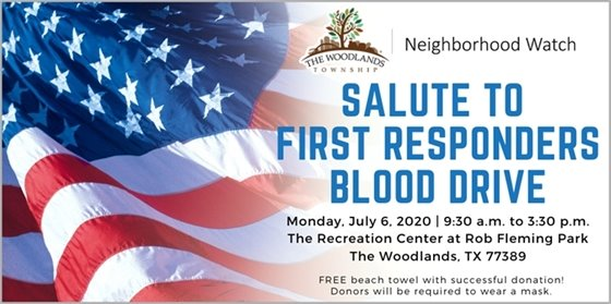 First Responders Blood Drive