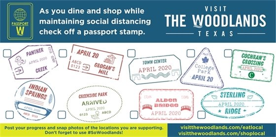 Visit The Woodlands Social Distancing Passport