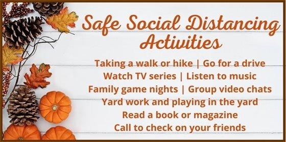 Safe Social Distancing Activities