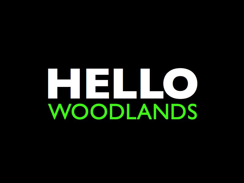Hello Woodlands Logo
