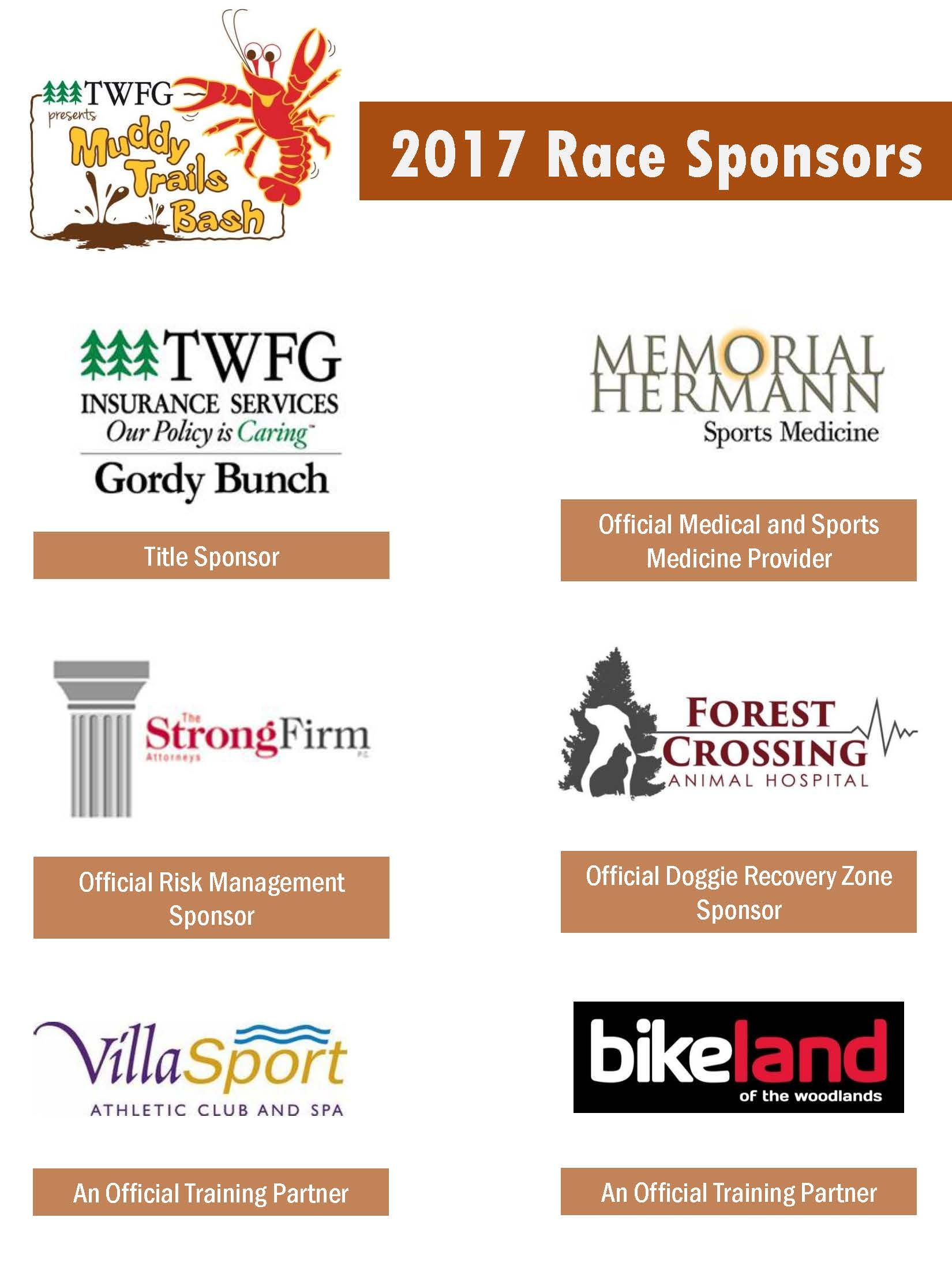 2017 Race Sponsors - Muddy Trails Updated 3.20.17 - 1