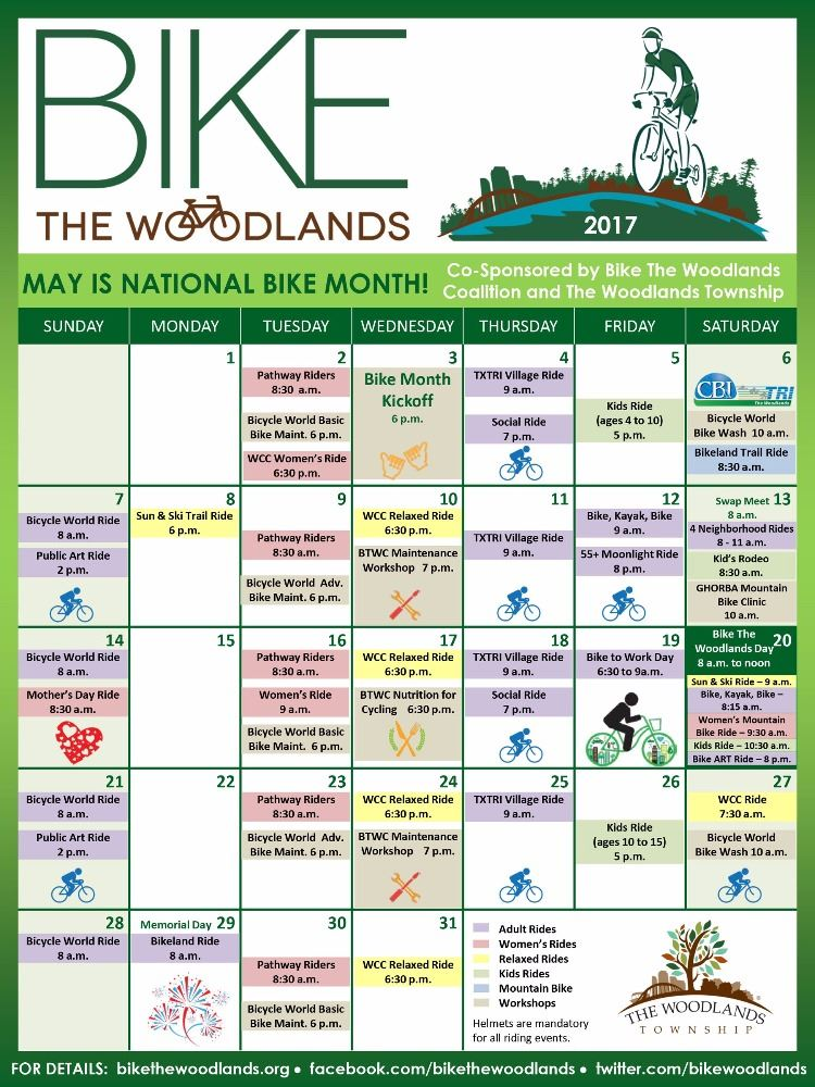 Calendar Woodlands : The woodlands township tx