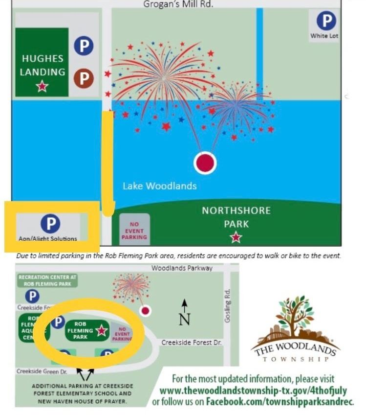 fireworks viewing map