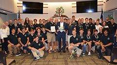 The Woodlands Youth Rugby Club with the Township Board of Directors