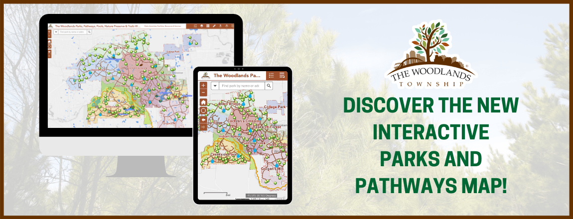 Parks and Pathways Map Homepage Banner
