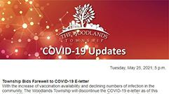 Township brings conclusion to COVID-19 e-letter