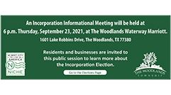 Township to hold Incorporation Informational Meeting