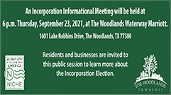 Township hosts Incorporation Informational Meeting on Thursday, September 23, 2021