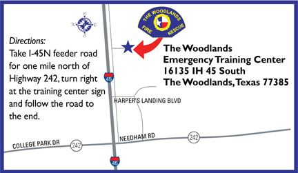 Emergency Training Center Map