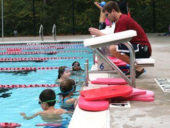 Pool Slide Swim Teams In
