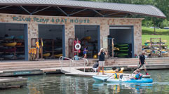 Kayaking at Riva Row Boat House