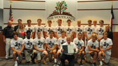 7 on 7 Team Receiving Proclamation