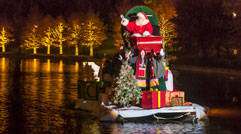 Santa on the Waterway