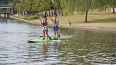 Learning how to use SUP Paddle Board