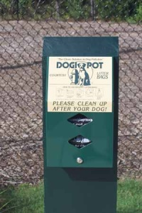 DogiPot at a dog-friendly park