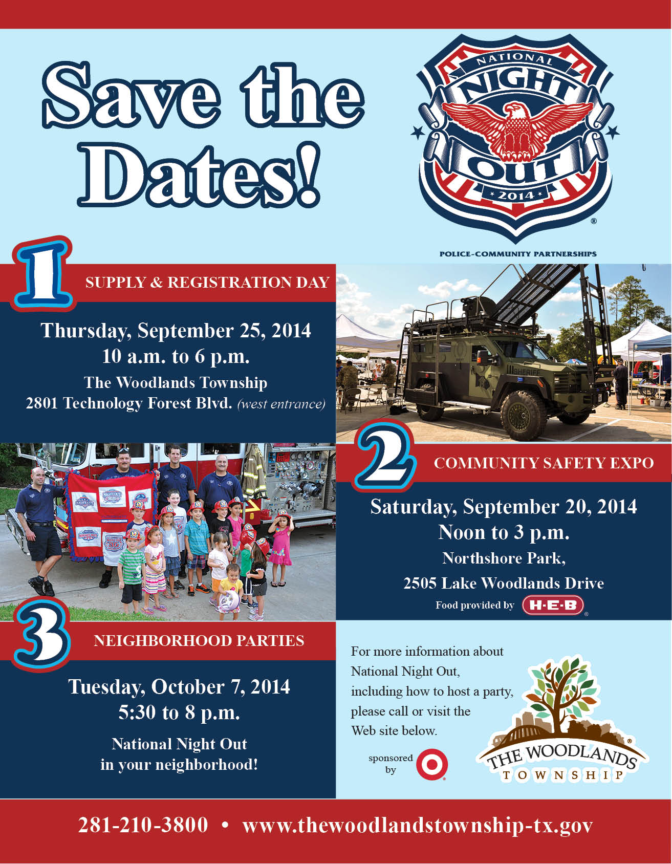 Save the Dates for National Night Out