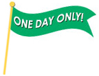 one day only banner